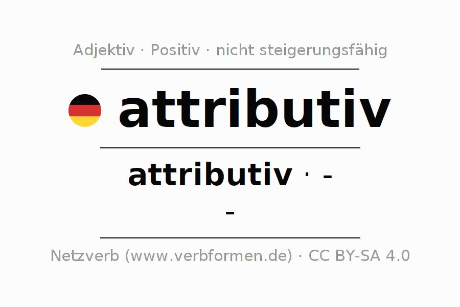 Deklination   attributiv   Alle Formen, Steigerung, Tabellen und ...