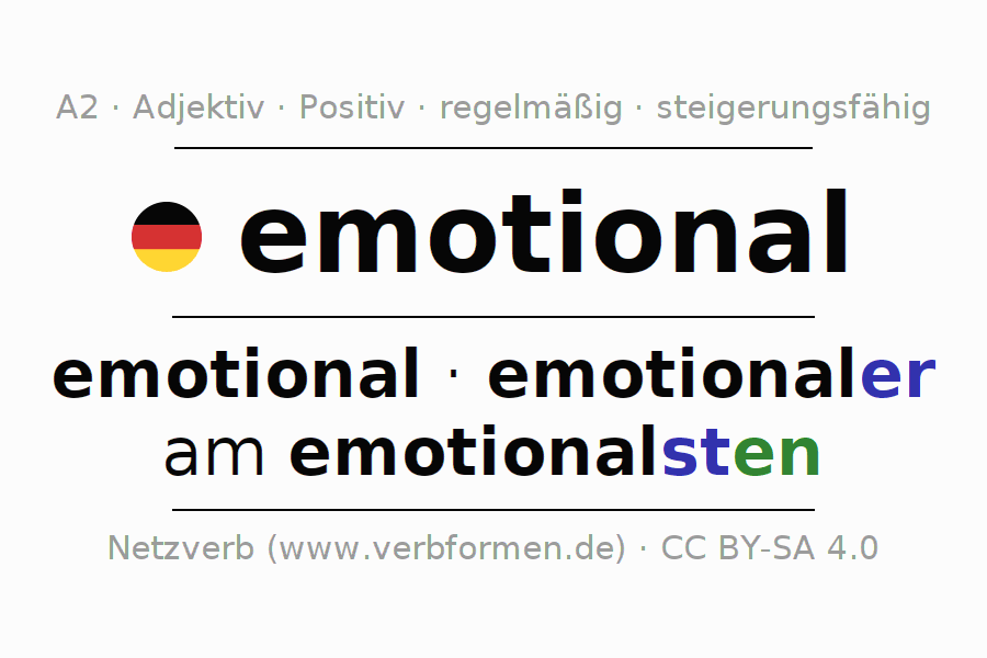 Deklination | emotional | Alle Formen, Steigerung, Tabellen und ...