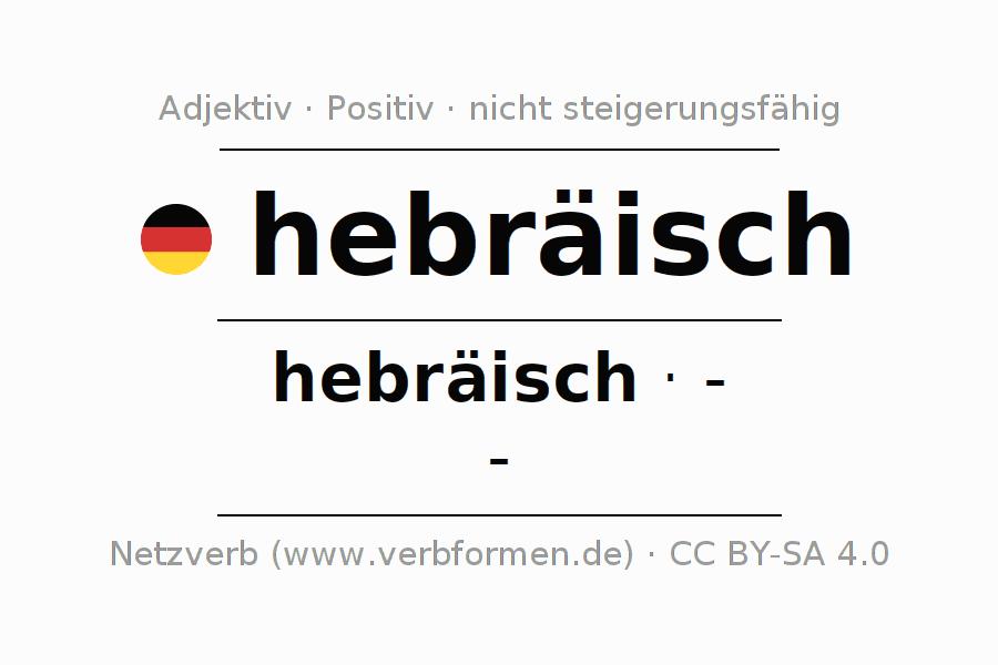 Deklination   hebräisch   Alle Formen, Steigerung, Tabellen und ...