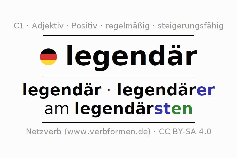 new arrival 61a3b d5f69 Deklination legendär | Alle Formen, Steigerung, Tabellen ...