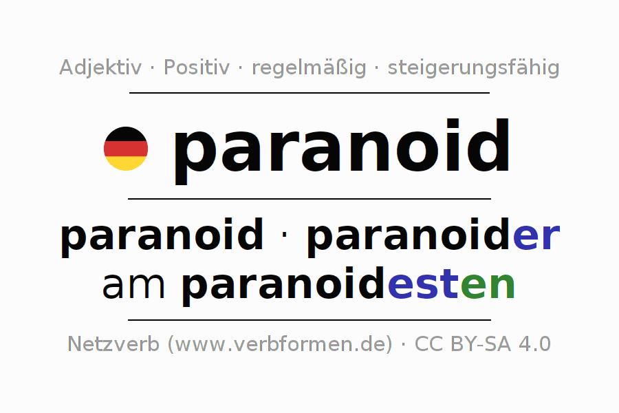 Deklination paranoid | Alle Formen, Steigerung, Tabellen, Sprachausgabe