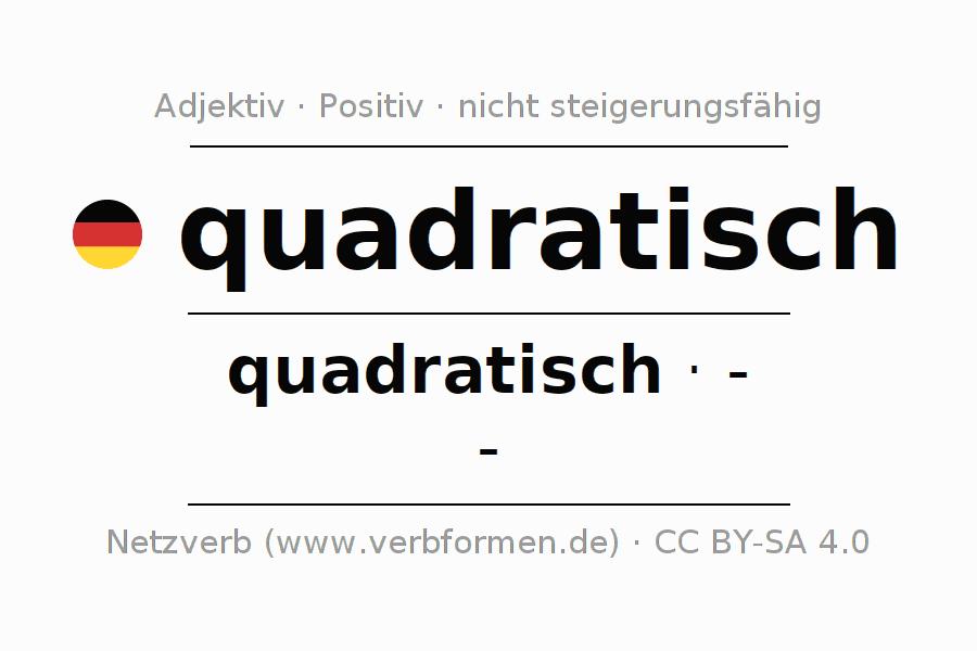Deklination   quadratisch   Alle Formen, Steigerung, Tabellen und ...