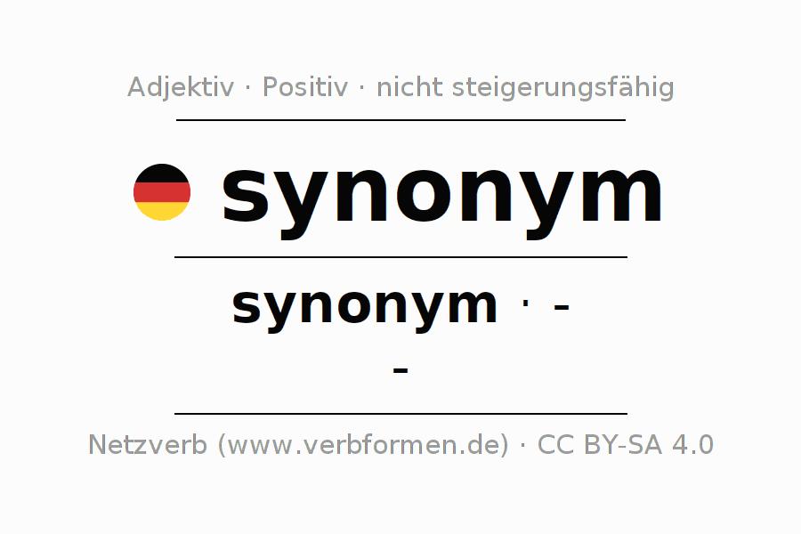 Deklination | synonym | Alle Formen, Steigerung, Tabellen und Downloads