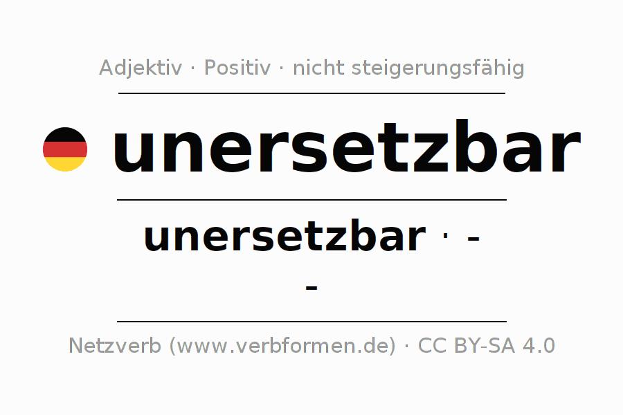 unersetzbar