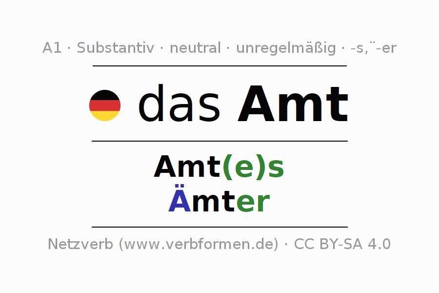Deklination | Amt | Alle Formen, Plural, Regeln und Downloads