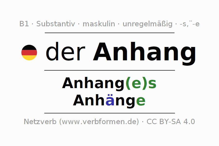 Groß Anhang Anatomie Zeitgenössisch - Anatomie Von Menschlichen ...