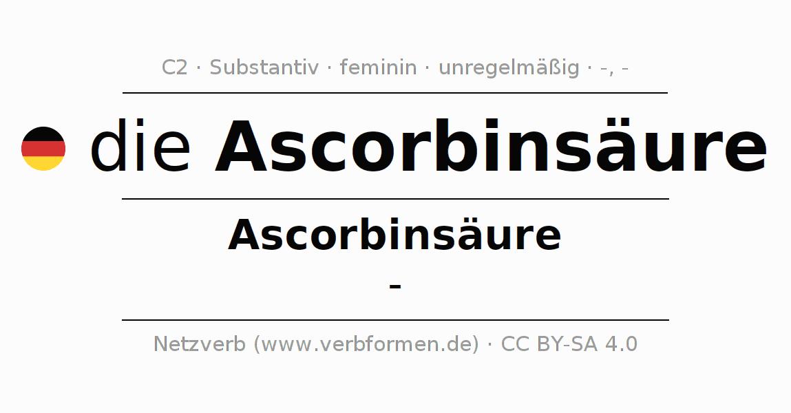 Deklination | Ascorbinsäure | Alle Formen, Plural, Regeln und Downloads