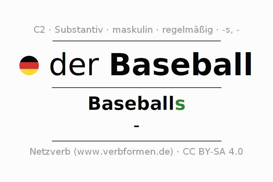 Deklination | Baseball | Alle Formen, Plural, Regeln und Downloads