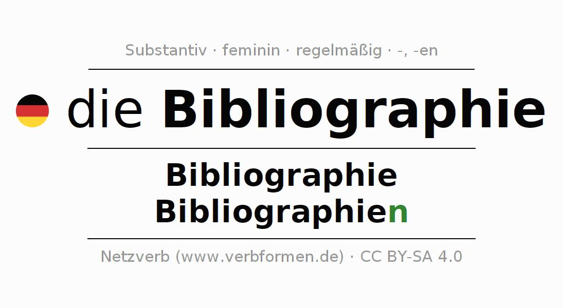 Deklination Bibliographie | Alle Formen, Plural, Regeln, Sprachausgabe