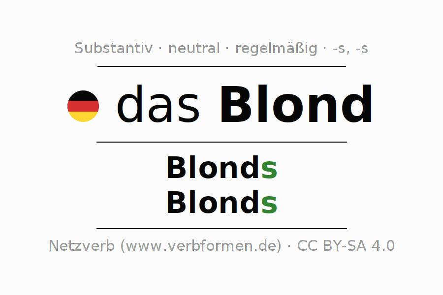 Deklination | Blond | Alle Formen, Plural, Regeln und Downloads