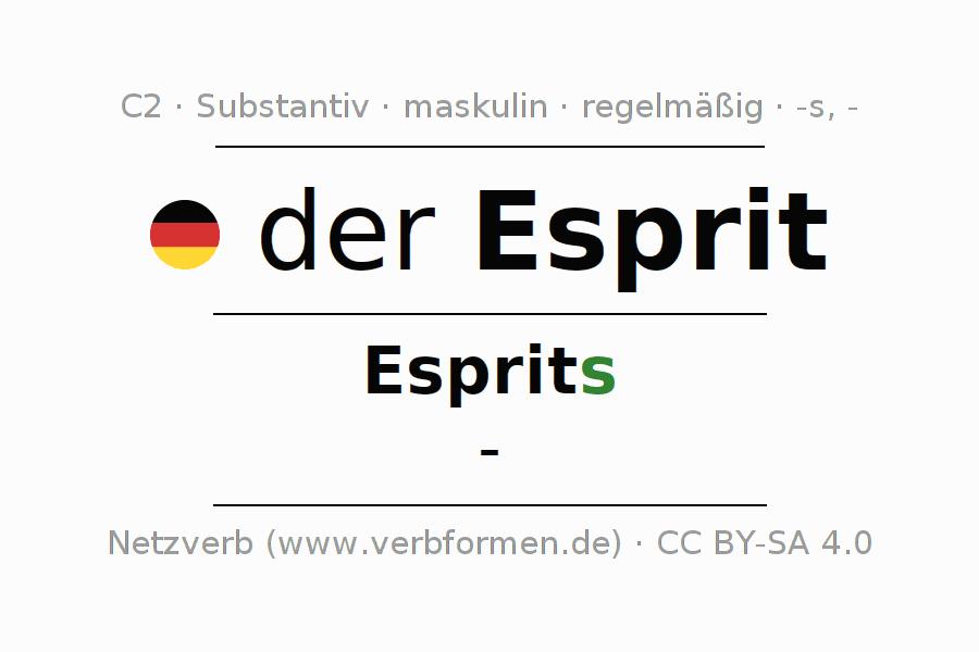 Deklination Esprit   Alle Formen, Plural, Regeln, Sprachausgabe