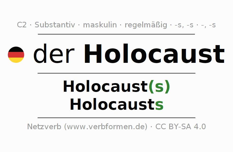 Deklination Holocaust   Alle Formen, Plural, Regeln, Sprachausgabe
