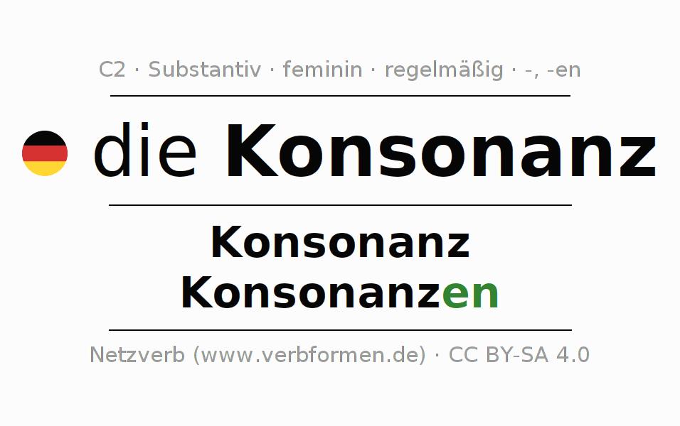 Deklination Konsonanz | Alle Formen, Plural, Regeln, Sprachausgabe