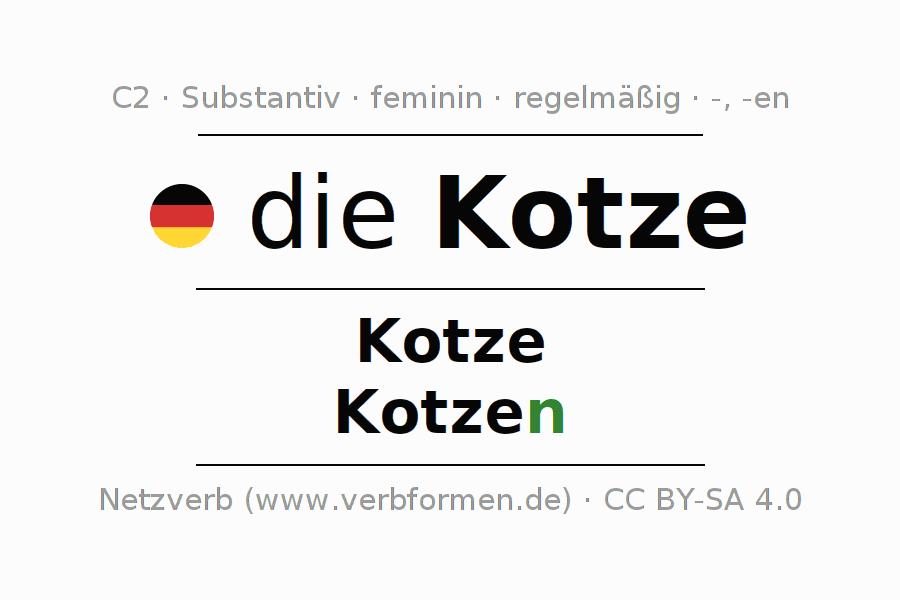 Deklination Kotze Alle Formen Plural Regeln Sprachausgabe