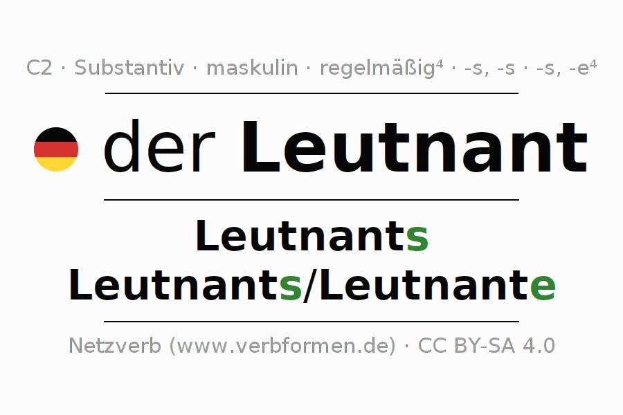 Deklination | Leutnant | Alle Formen, Plural, Regeln und Downloads
