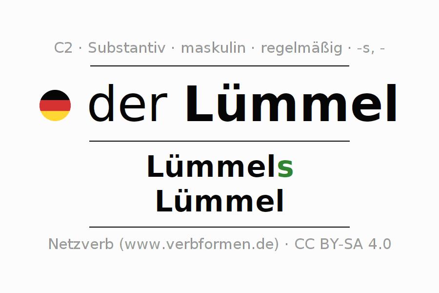 Deklination Lümmel Alle Formen Plural Regeln Sprachausgabe