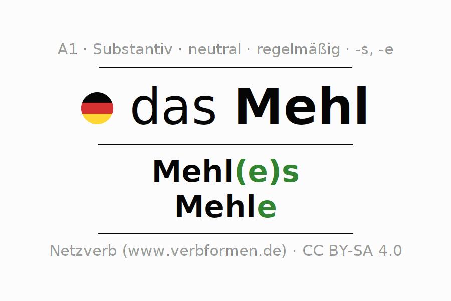 Deklination Mehl | Alle Formen, Plural, Regeln, Sprachausgabe