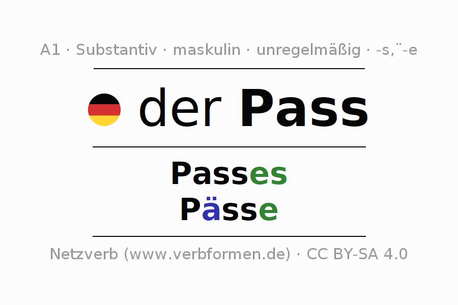 Deklination | Pass | Alle Formen, Plural, Regeln und Downloads