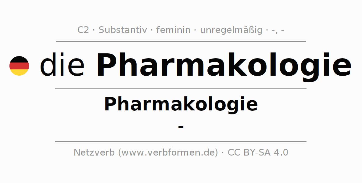 Deklination   Pharmakologie   Alle Formen, Plural, Regeln und Downloads
