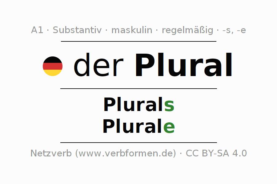 Deklination | Plural | Alle Formen, Plural, Regeln und Downloads