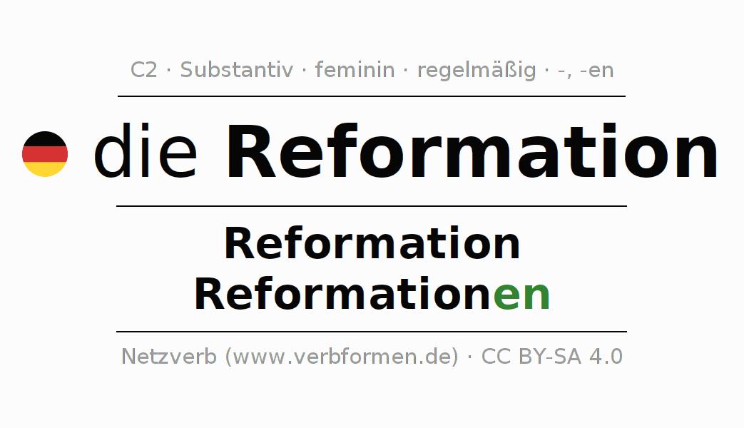 Deklination | Reformation | Alle Formen, Plural, Regeln und Downloads