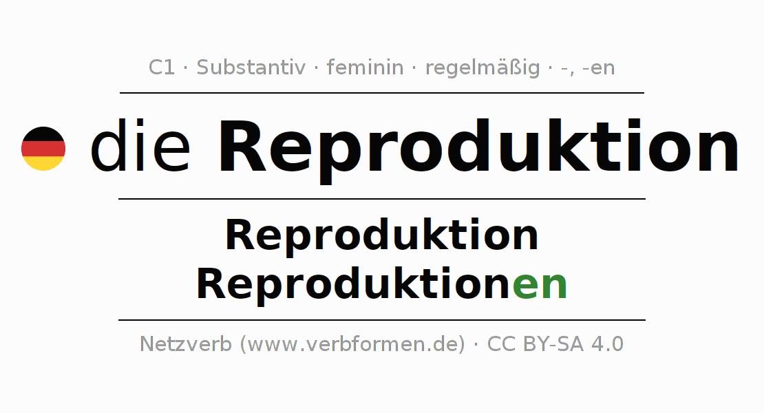 Deklination | Reproduktion | Alle Formen, Plural, Regeln und Downloads