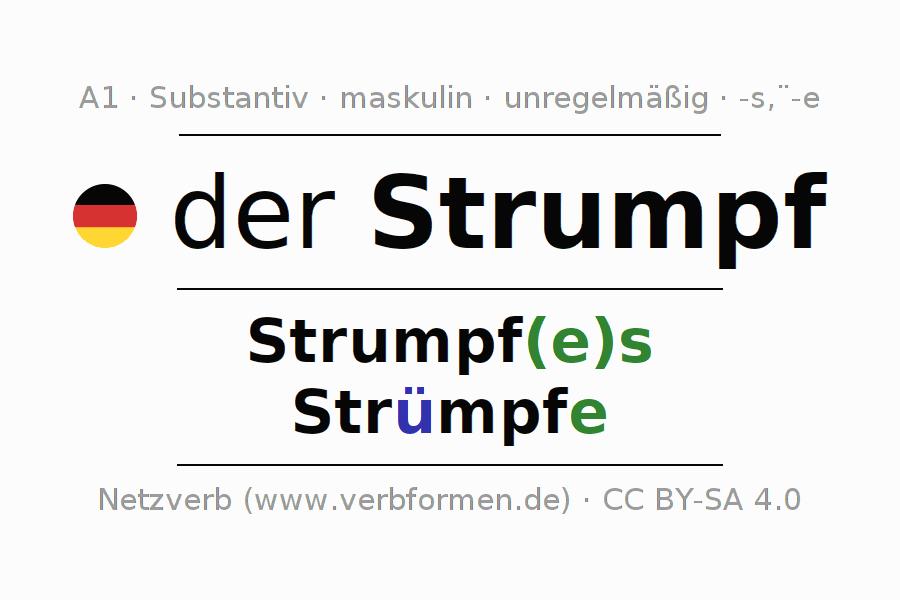 Deklination Strumpf   Alle Formen, Plural, Regeln, Sprachausgabe