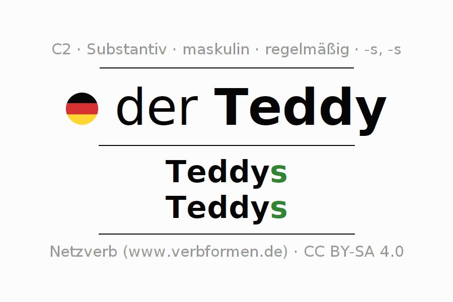 Deklination Teddy | Alle Formen, Plural, Regeln, Sprachausgabe