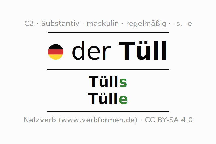 Deklination Tüll   Alle Formen, Plural, Regeln, Sprachausgabe