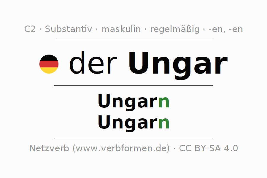 Deklination | Ungar | Alle Formen, Plural, Regeln und Downloads