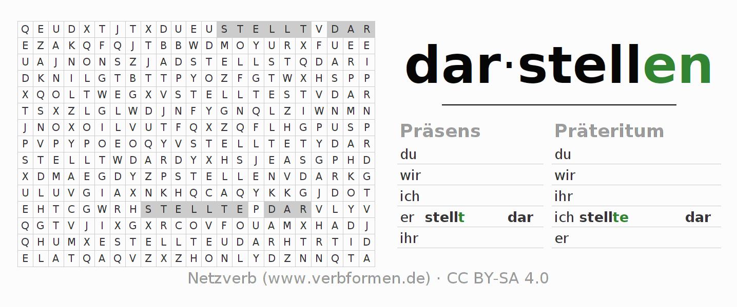 Arbeitsblätter | Verb darstellen | Übungen zur Konjugation deutscher ...