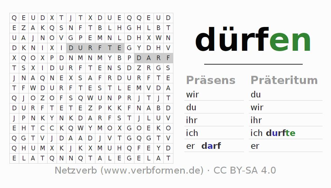 Arbeitsblätter | Verb dürfen | Übungen zur Konjugation deutscher ...