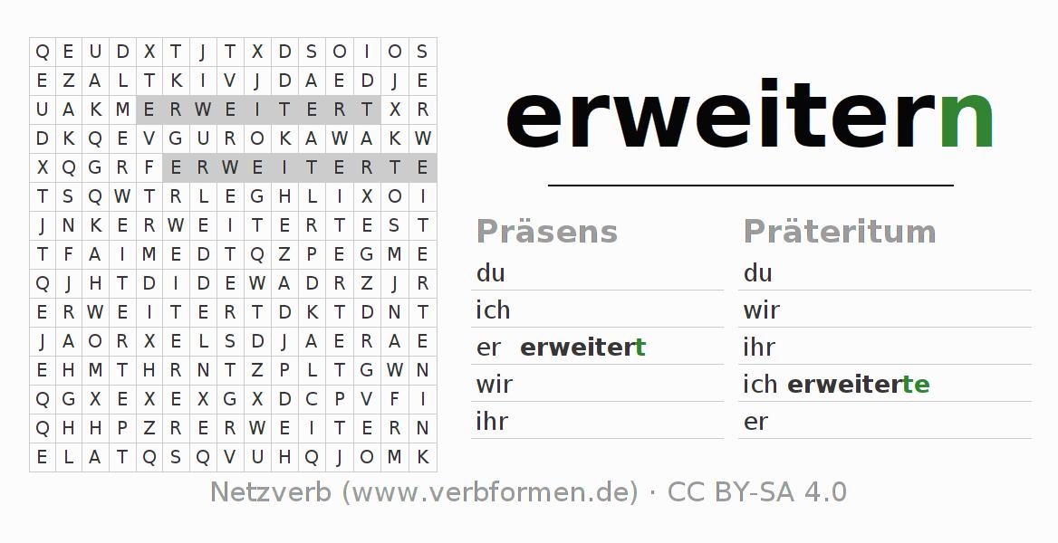 Arbeitsblätter   Verb erweitern   Übungen zur Konjugation deutscher ...