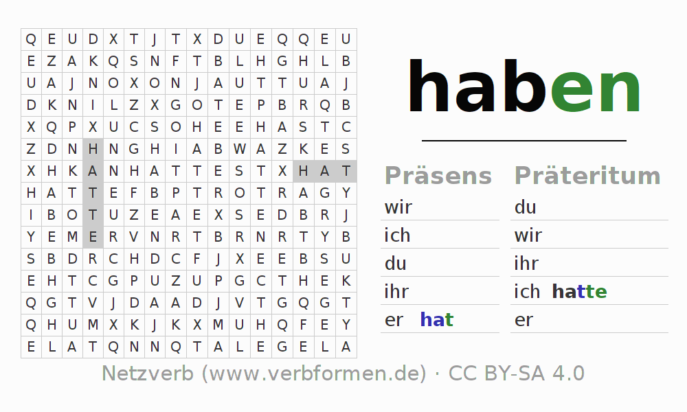 konjugation haben deutsche verben konjugieren netzverb