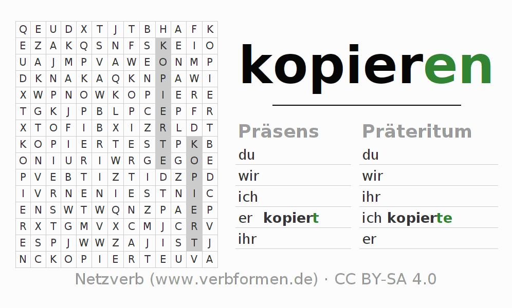 Arbeitsblätter Excel Kopieren : Arbeitsblätter verb kopieren Übungen zur konjugation