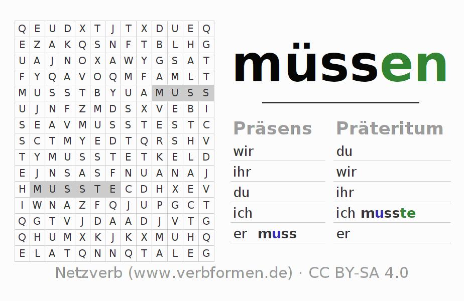 Arbeitsblätter | Verb müssen | Übungen zur Konjugation deutscher ...
