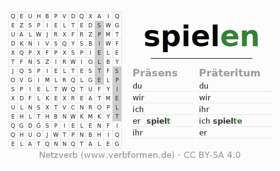 Arbeitsblätter | Verb spielen | Übungen zur Konjugation deutscher ...