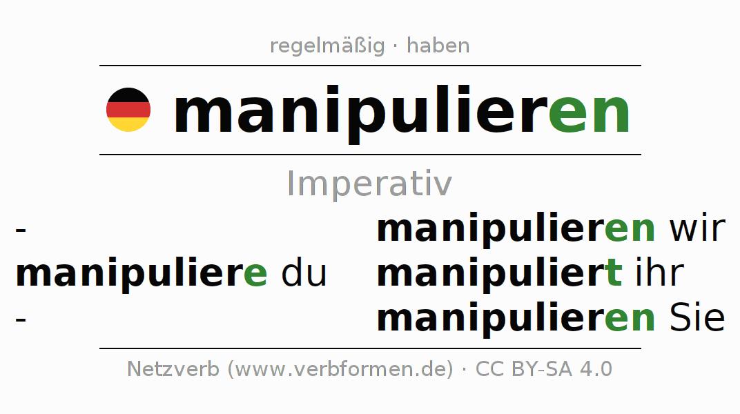Imperativ | manipulieren | Alle Regeln, Tabellen, Beispiele und ...