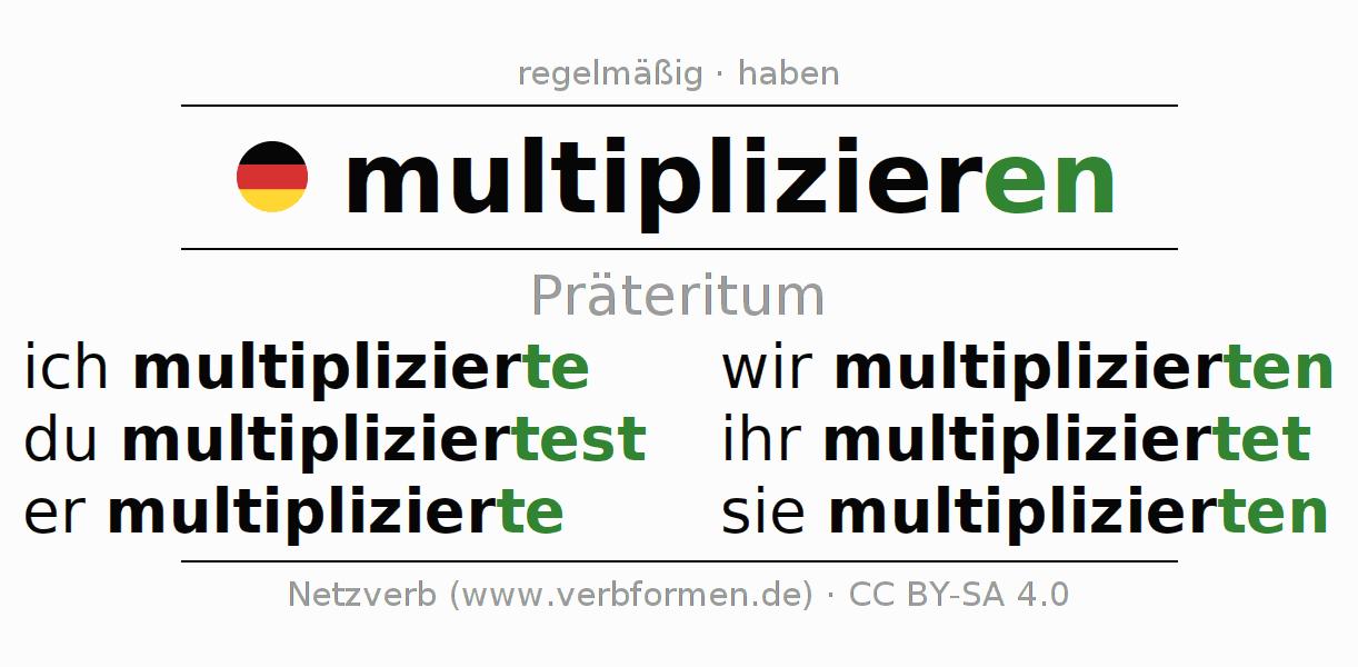 Präteritum multiplizieren | Alle Formen, Regeln, Beispiele ...