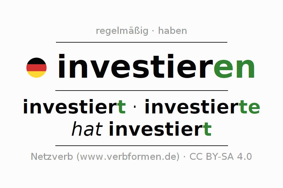 Konjugation investieren | Alle Formen, Tabellen, Beispiele ...