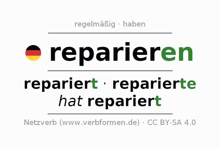 Beispiele   reparieren   Sätze, Verwendung, Tabellen und Downloads