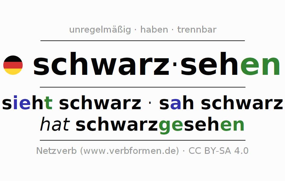 Konjugation | schwarzsehen | Alle Formen, Tabellen, Beispiele und ...
