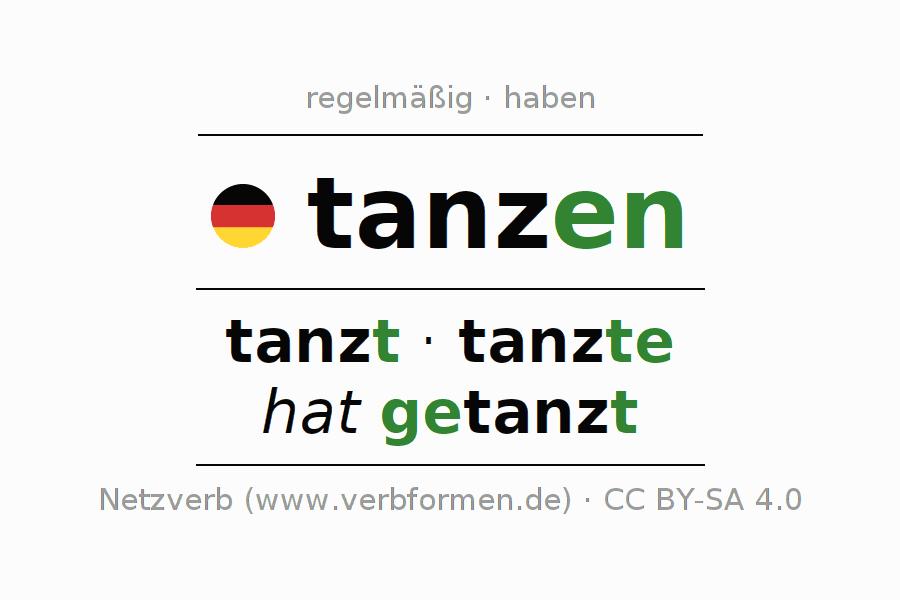 Beispiele | tanzen | Sätze, Verwendung, Tabellen und Downloads